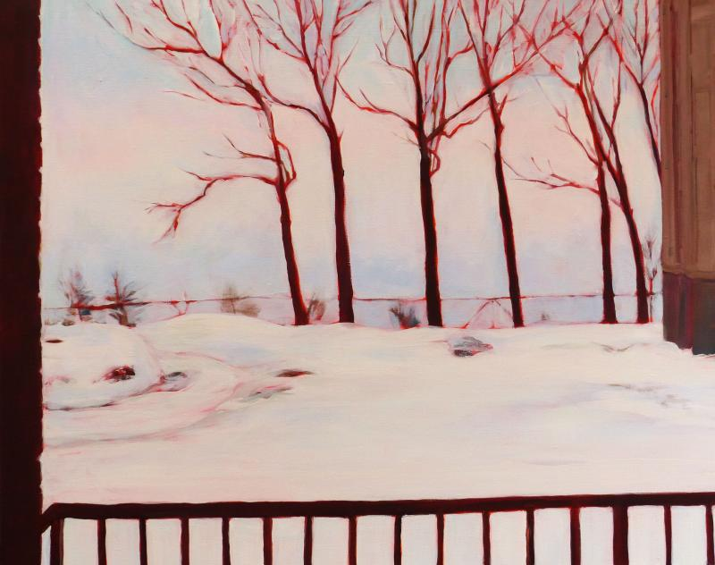 "This painting, February Lake Effect was juried into ""La Vie en Bleu"""